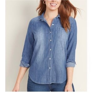 Old Navy Relaxed Chambray Button-down Shirt